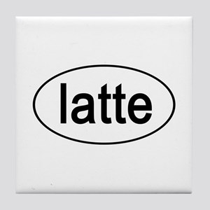 Latte Euro Oval white Tile Coaster