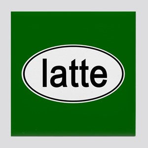 Latte Euro Oval green Tile Coaster