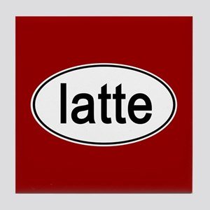 Latte Euro Oval red Tile Coaster