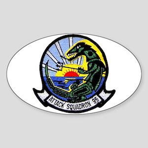 VA 95 Green Lizards Oval Sticker