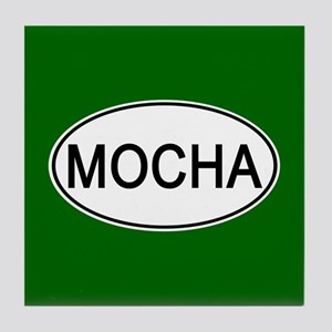 Mocha Euro Oval green Tile Coaster