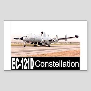 EC-121 Warning Star Rectangle Sticker