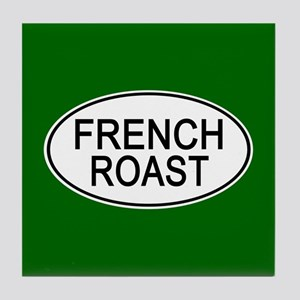 French Roast Euro Oval green Tile Coaster