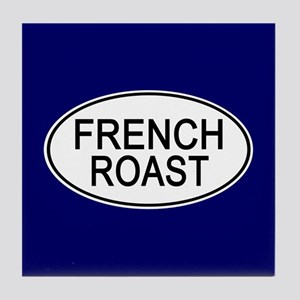 French Roast Euro Oval blue Tile Coaster