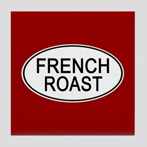 French Roast Euro Oval red Tile Coaster
