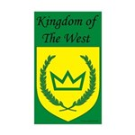 Kingdom of the West Rectangle Sticker 10 pk)