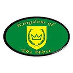 Kingdom of the West Oval Sticker (50 pk)
