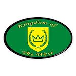 Kingdom of the West Oval Sticker (10 pk)