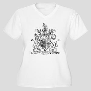 United Kingdom Women's Plus Size V-Neck T-Shirt