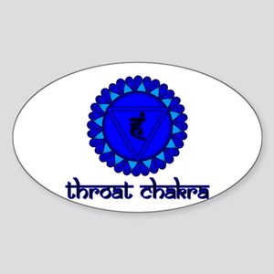 Throat Chakra Oval Sticker