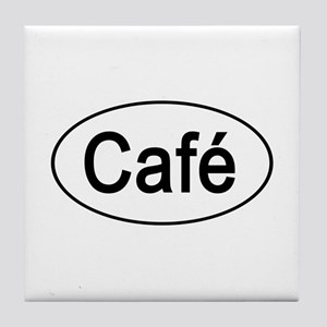 Cafe Euro Oval white Tile Coaster