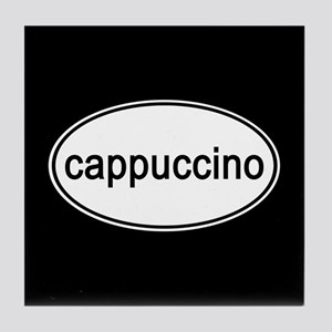 Cappuccino Euro Oval black Tile Coaster