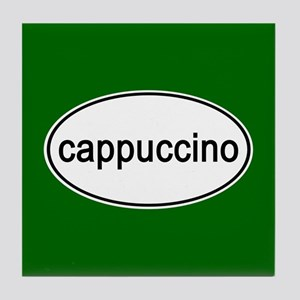 Cappuccino Euro Oval green Tile Coaster