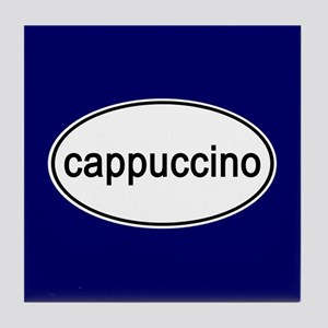 Cappuccino Euro Oval blue Tile Coaster