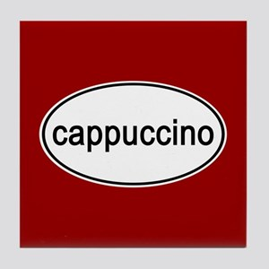 Cappuccino Euro Oval red Tile Coaster