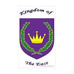 East kingdom Rectangle Sticker 50 pk)