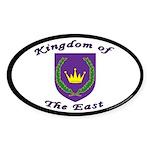 East kingdom Oval Sticker (50 pk)