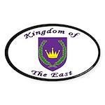 East kingdom Oval Sticker (10 pk)