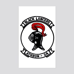 VA 64 Black Lancers Rectangle Sticker