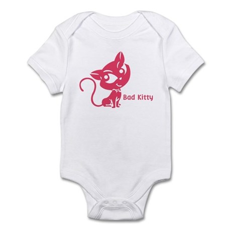 Pink Bad Kitty Infant Bodysuit