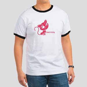 Pink Bad Kitty Ringer T
