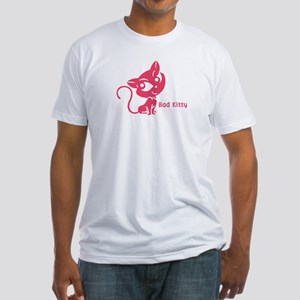 Pink Bad Kitty Fitted T-Shirt