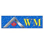 Masonic WM Canada Bumper Sticker