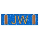 Masonic Junior Warden Bumper Sticker