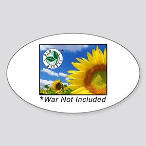 War Not Included Oval Sticker