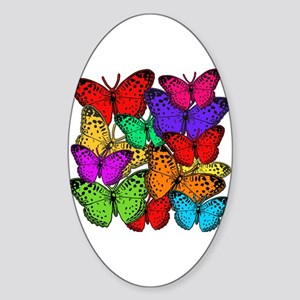 Brilliant Butterfly Design Sticker (Oval)