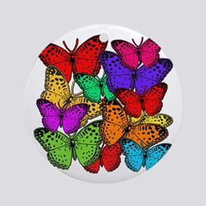 Brilliant Butterfly Design Ornament (Round)