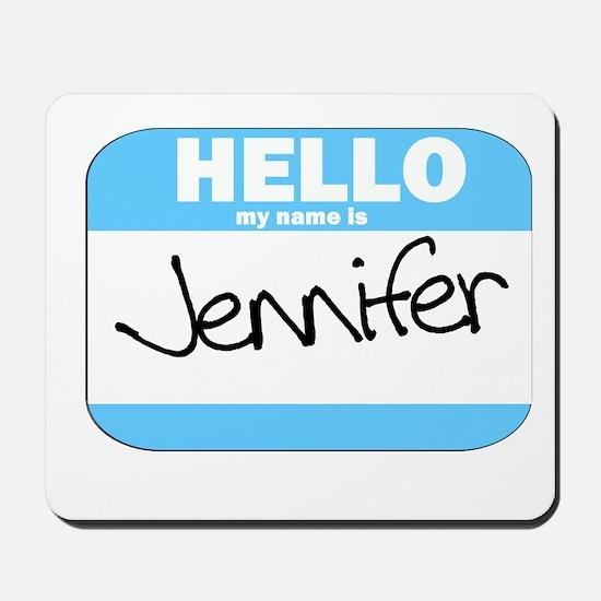 Jennifer Name Tag Mousepad