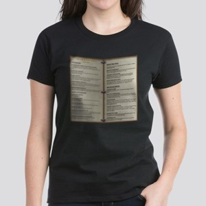 Dragon's Den Tavern Menu Women's Dark T-Shirt
