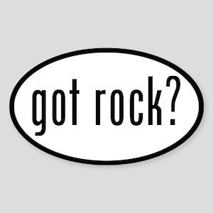 got rock? Oval Sticker