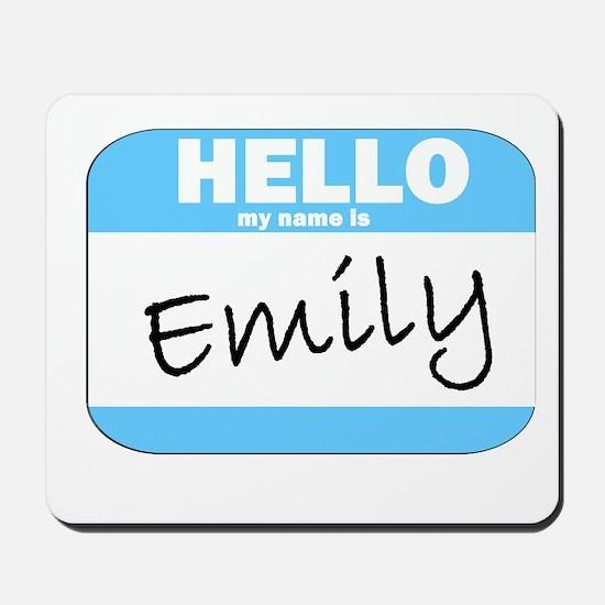Emily Name Tag Mousepad