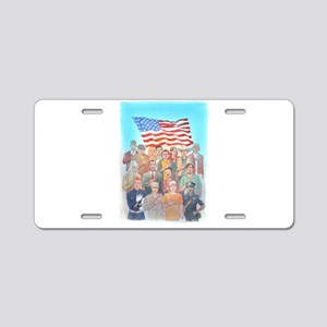 We Are All Americans 3 Aluminum License Plate