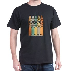 Hawaii Surfboards Retro Colors Design T-Shirt