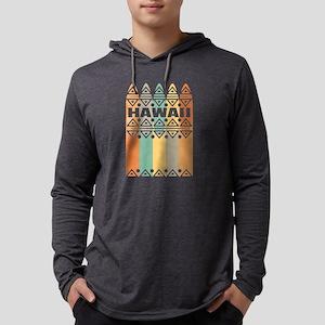 Hawaii Surfboards Retro Colors Long Sleeve T-Shirt