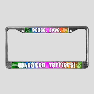 Hippie Wheaten Terrier License Plate Frame