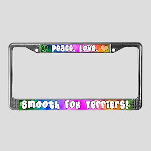 Hippie Smooth Fox Terrier License Plate Frame