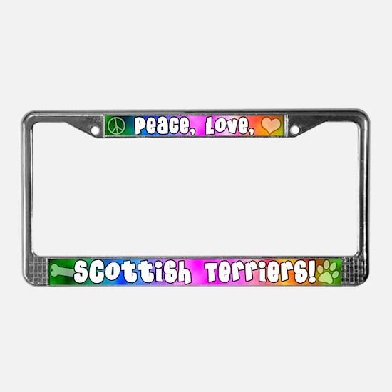 Hippie Scottish Terrier License Plate Frame