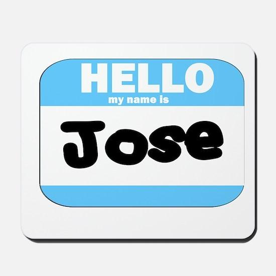 Jose Nametag Mousepad
