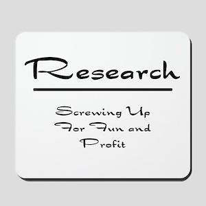 Research Humor Mousepad