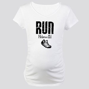 Hebrews Run Maternity T-Shirt
