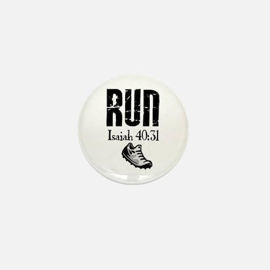 Isaiah 40:31 Run Mini Button