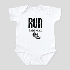 Isaiah 40:31 Run Infant Bodysuit
