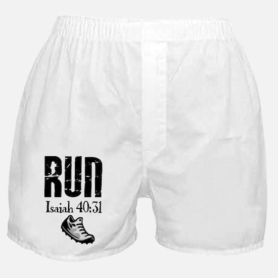 Isaiah 40:31 Run Boxer Shorts