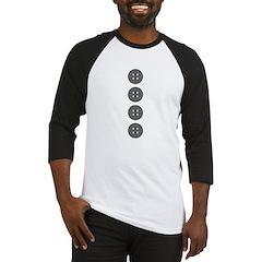 Gray Buttons Baseball Jersey