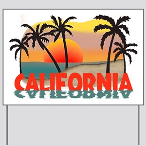 California Sunset Souvenir Yard Sign