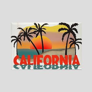 California Sunset Souvenir Rectangle Magnet